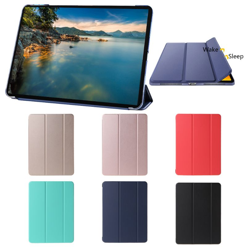 New Durable PU Leather Auto Sleep/Wake Smart Cover Protective Case Accessories for 2018 iPad Pro 11 Inch