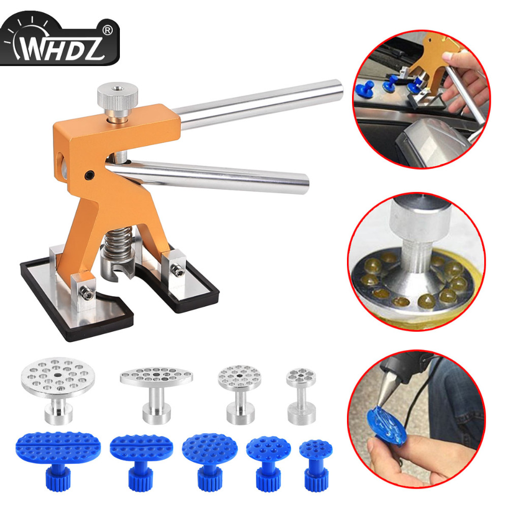 WHDZ Auto Repair Dent Removal PDR Tools Glue Puller Hand Lifter with 9pcs tabs PDR Tool Paintless Dent Repair PDR Dent Repair