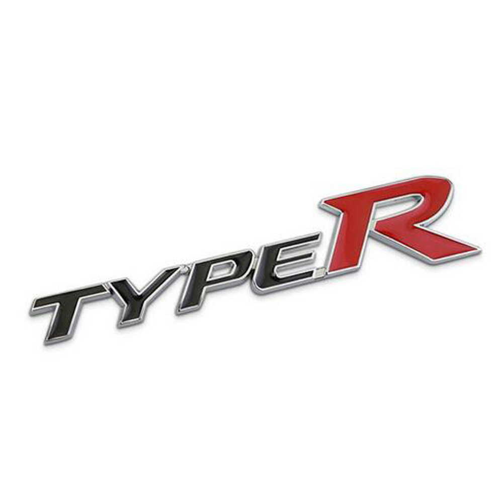 Dsycar 3D Metal TYPE-R Car Sticker Emblem Badge for Universal Cars Moto Bike Decorative Accessories dsycar 3d metal sport car sticker emblem badge for for universal cars motorcycle car styling decorative accessories chevrolet ds