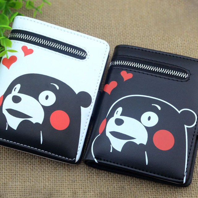 wallet for girls Totoro/ Kumamon /Black Butler /Sword Art Online /Gintama/ONE PIECE cute purse With Zipper Pouch Card Holder