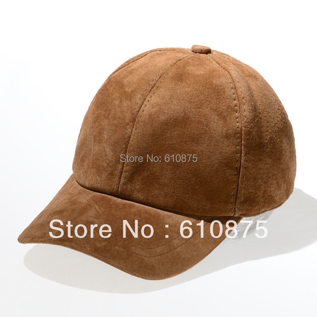 hot sale genuine leather hat male baseball cap casual suede fur hat  A06
