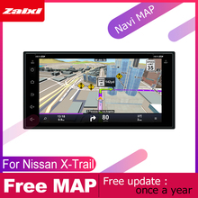 цена на ZaiXi android car dvd gps multimedia player For Nissan X-Trail 2000~2013 car dvd navigation radio video audio player Navi Map