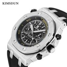 KIMSDUN спортивные мужские s часы лучший бренд класса люкс Подлинная Резина Автоматические Мужские механические часы Классические мужские часы высокого качества Watc
