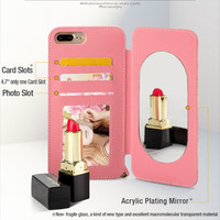 Mirror Case For iphone 7 Women Makeup Cases For Iphone X XR XS Max Flip Leather Cover For Iphon 6 6splus 7plus 8plus Drop Ship