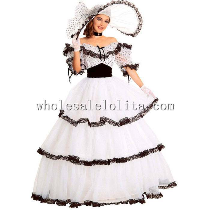New Silk Short Shipping Southern Belle Costume Victorian Dress ...