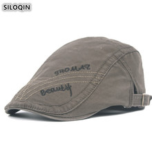 SILOQIN Snapback Cap Adjustable Size Mens 100% Cotton Berets Hats Personality Retro Tongue Caps New Youth Letter Embroidery Hat