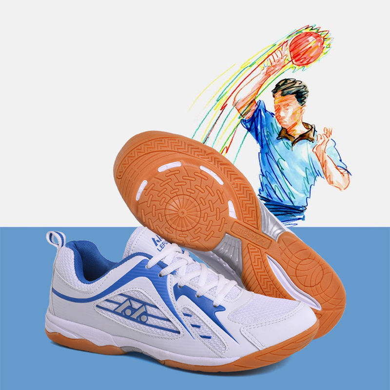 Pro Table Tennis Shoes Men Outdoor Sports Breathable Ladies Sneakers Male Training Non-slip High Quality Tennis Badminton Shoes professional cushioning volleyball shoes unisex light sports breathable shoe women sneakers badminton table tennis shoes g364