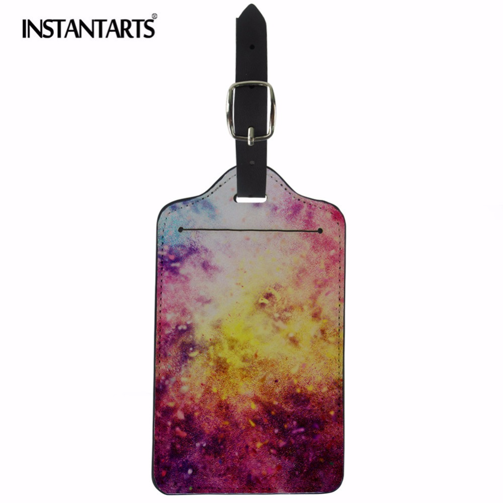 Galaxy Cats In Space Luggage Tag Label Travel Bag Label With Privacy Cover Luggage Tag Leather Personalized Suitcase Tag Travel Accessories