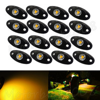 20PCS 2 9W Amber OffRoad Truck Trail Fender Lighting LED Rock Light Under Body Wheel Backup