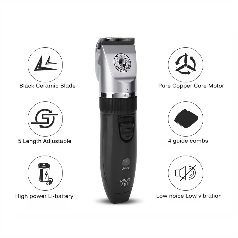 Grooming Kits Rechargeable Pet Hair Trimmer Cats Dogs Electric Clipper Shaver Haircut Machine Professional clipper for animals 110 240v lili professional pet hair cutter electric cat pet trimmer shaver pet grooming haircut machines hair clipper for dogs