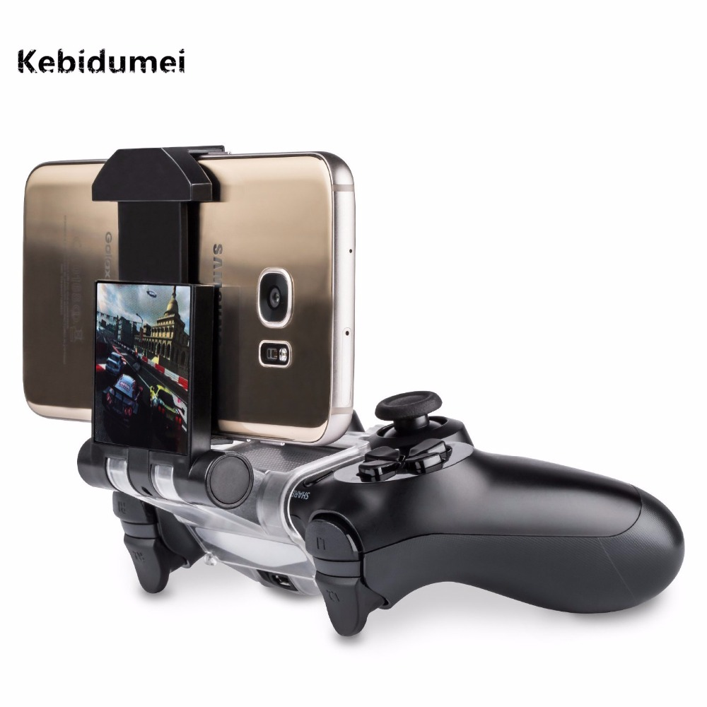 Kebidumei Gamepad Plastic Stand Cell Smartphone Game Holder Controller Clip Clamp For Playstation For PS4 Game Controller image