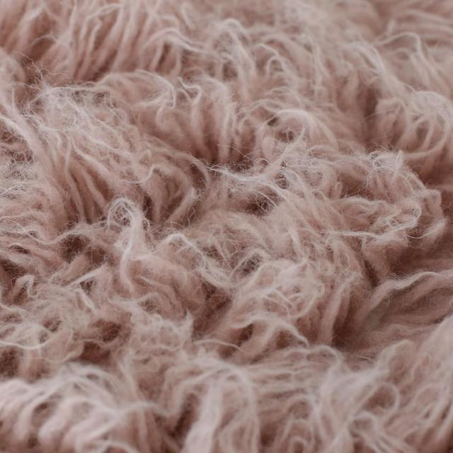 Wool Flokati Rug Layer Newborn Photography Props Blanket Baby Bean Bag Covering