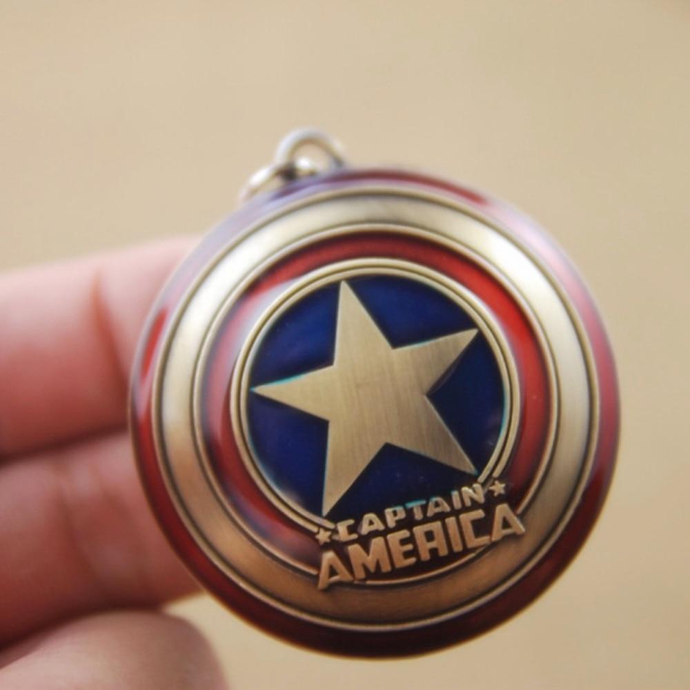 Marvel jewelry Anime Key Chain Super Hero Captain America Shield  Pendant keyring Car Key Chain Accessories Men Keychain