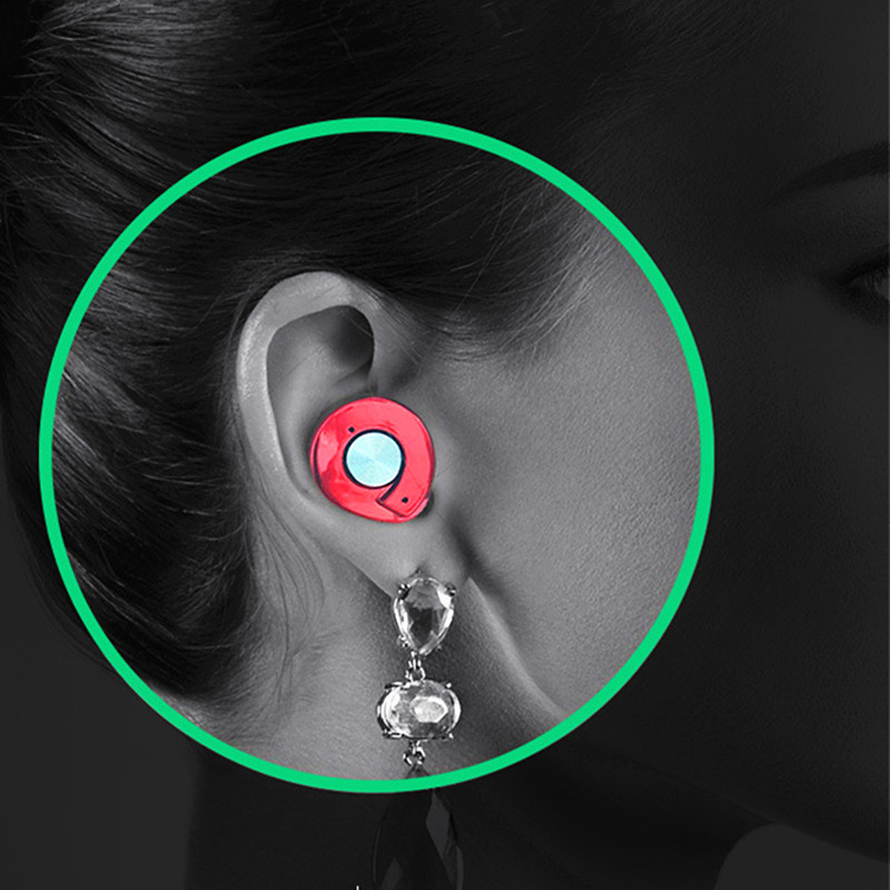 Noise Cancelling in-ear Twins Mini Wireless Bluetooth Earphone Sports Music Bluetooth Earbuds Tiny Handsfree Headset with Mic
