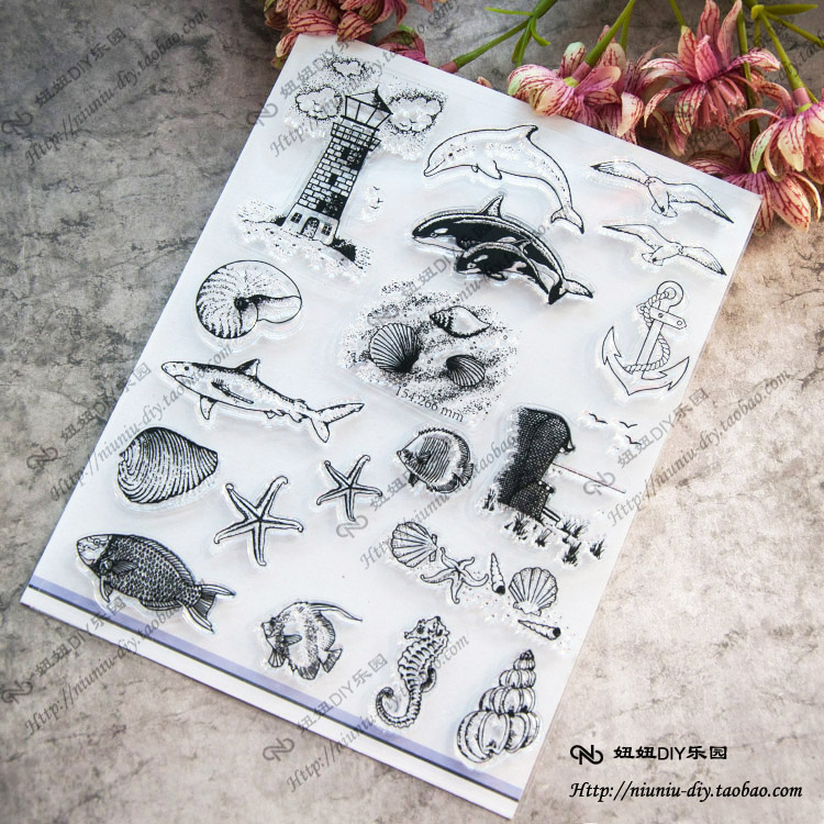 Ocean animal Scrapbook DIY photo cards account rubber stamp clear stamp seal transparent silicone Handcrafted art stamps ocean animal scrapbook diy photo cards account rubber stamp clear stamp seal transparent silicone handcrafted art stamps