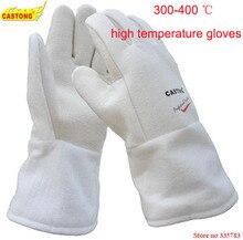 قفازات واقية من NFHH15 34 300 400 درجة قفازات التدفئة الصناعية قفازات الحريق عالية الحرارة