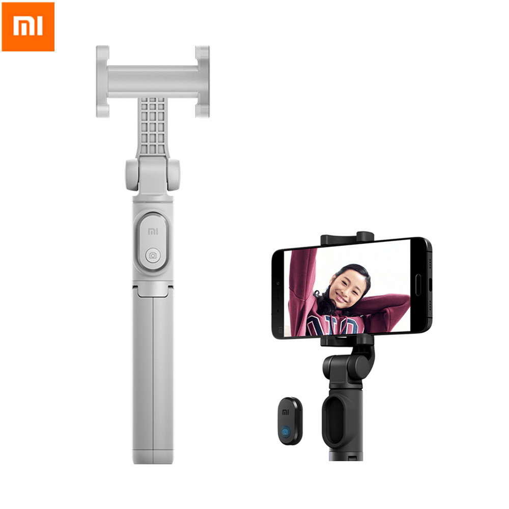 Xiaomi Mi Tripod Selfie Stick Wireless Bluetooth Remote Control Portable Monopod Extendable Handheld Holder For Mobile Phones floveme tripod selfie stick wireless bluetooth monopod for iphone samsung xiaomi remote control handheld smartphone selfie stick