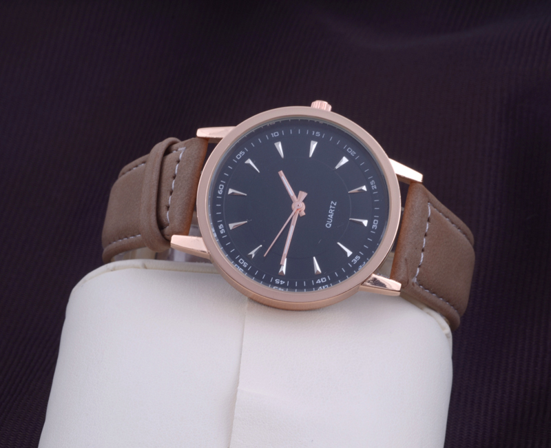 hot stylish simple elegant trendy watch men s business hot stylish simple elegant trendy watch men s business watches unisex quartz wristwatches brown leather strap fashion watch in quartz watches from