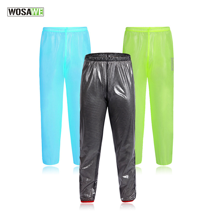 WOSAWE Outdoor Sport Rain Pants Cycling Bike Bicycle Running Waterproof Windproof Pants Trousers Super Light Running Riding Pant