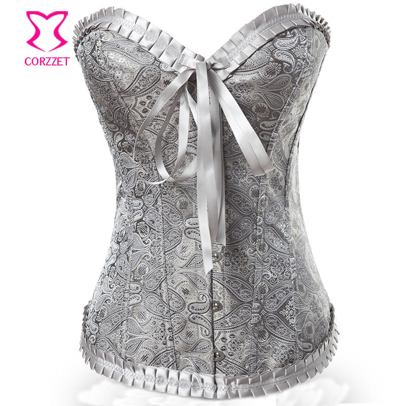 Detail Feedback Questions about Victorian Corset Sexy Bustier Top Corselet  Overbust Paisley Pattern Brocade Espartilhos E Corpetes Gothic Clothing  Korsett ... 3defaec11152