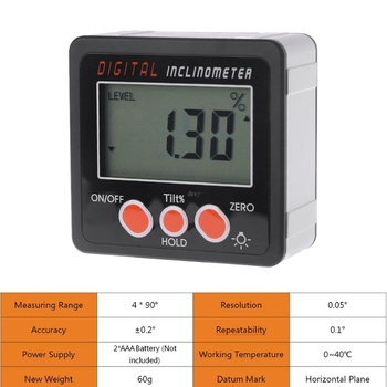 Digital Inclinometer Electronic Protractor Aluminum Alloy Shell Digital Bevel Box Angle Gauge Meter measuring tool Angle ruler