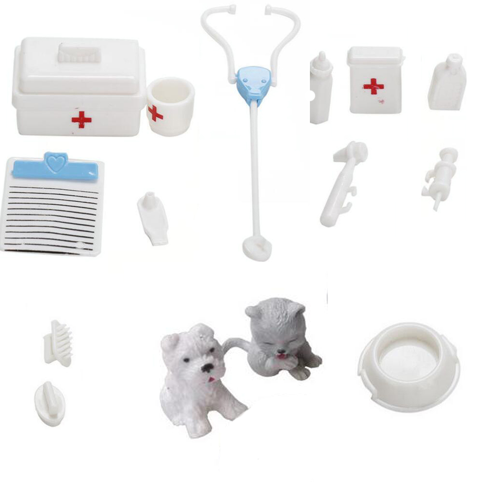 NK One Set Doll Accessories Toy Medical Kit Supplies Doll Pet Toys For Barbie Doll Baby Toys Christmas Gift Doll House