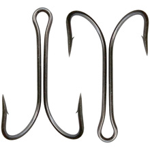 100pcs 9908 High Carbon Steel Double Fishing Hooks Small Fly Tying Double Fishing Hook For Jig Size 1 2 4 6 8 1/0 2/0 3/0 4/0