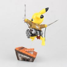 Poke Monster Pikachu Cosplay Attack on Titan Figure Toy 6″ 15cm