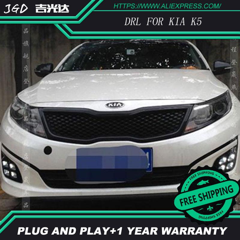 Бесплатная доставка ! 12В 6000K СИД DRL дневного света для Kia К5 2011-2015 противотуманная фара стайлинга автомобилей