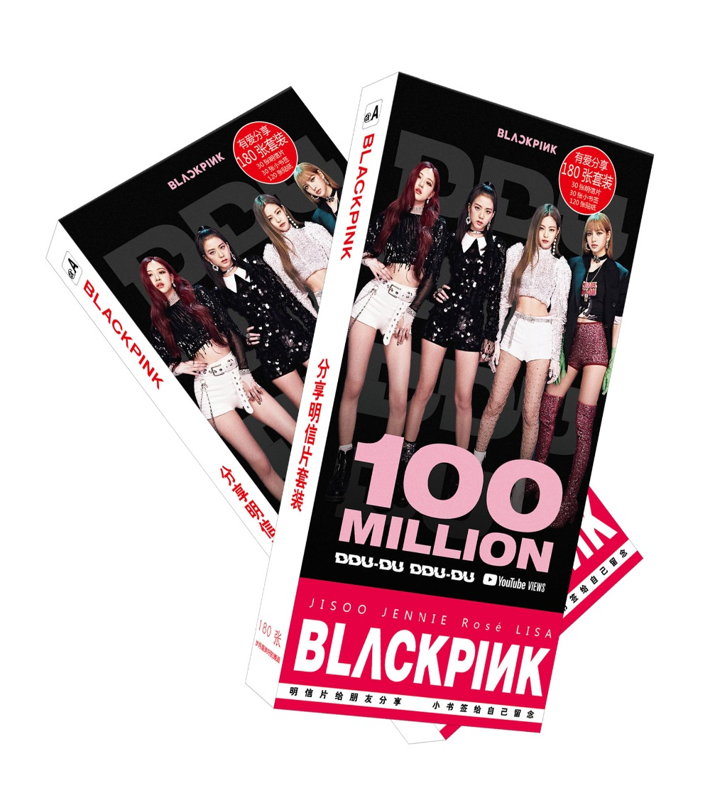 180pcs/Set BLACKPINK Postcard/Greeting Card/Message Card/Christmas and New  Year gifts