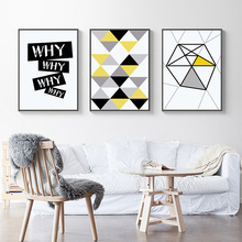 Abstract Geometric Shape Nordic Design Poster Canvas Painting For Cafe Home Decor On Modern Wall Print Artworks Unframed