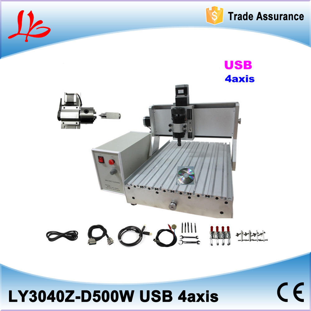 usb cnc router 3040500W water cooling spindle ball screw 4 axis cnc milling machine cnc dc spindle motor 500w 24v 0 629nm air cooling er11 brushless for diy pcb drilling new 1 year warranty free technical support