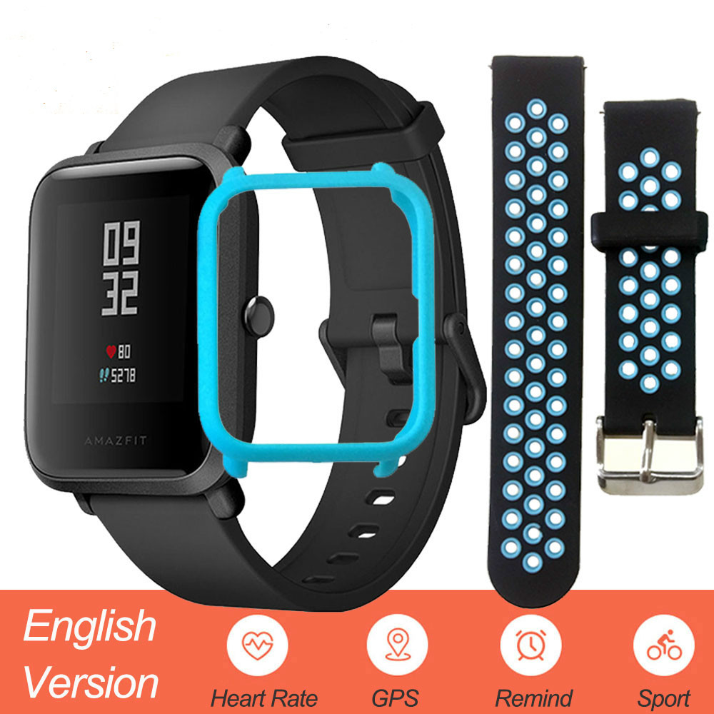 English Version Amazfit Bip Smart Watch Men Huami Mi Pace Smartwatch For IOS Android Heart Rate Monitor 45 Days BatteryEnglish Version Amazfit Bip Smart Watch Men Huami Mi Pace Smartwatch For IOS Android Heart Rate Monitor 45 Days Battery