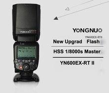Yongnuo yn600ex-rt ii master flash 2.4g wireless hss hss 1/8000 s 1/8000 s maestro flash speedlite para canon cámara como 600ex-rt