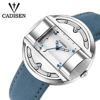 2018 New Mens Watches CADISEN Creative Militray Sport Fashion Top Quartz Men Watch Leather Male Wristwatches Relogio Masculino Quartz Watches