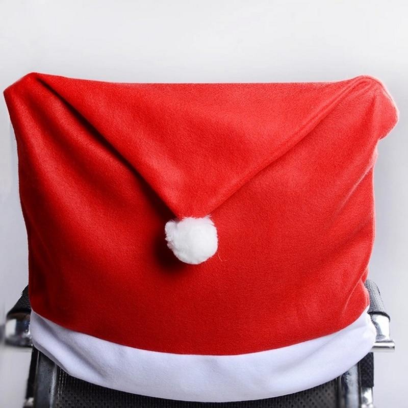 1 шт. Творческий Рождество украшения Санта Клаус шляпу стул Снеговик нетканые мультфильм покрытия обеденный стол Главная партии Декор 2017