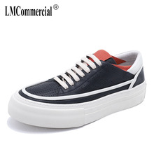 white cowhide Genuine Leather autumn winter British retro casual shoes mens breathable sneaker fashion boots men  Leisure shoes