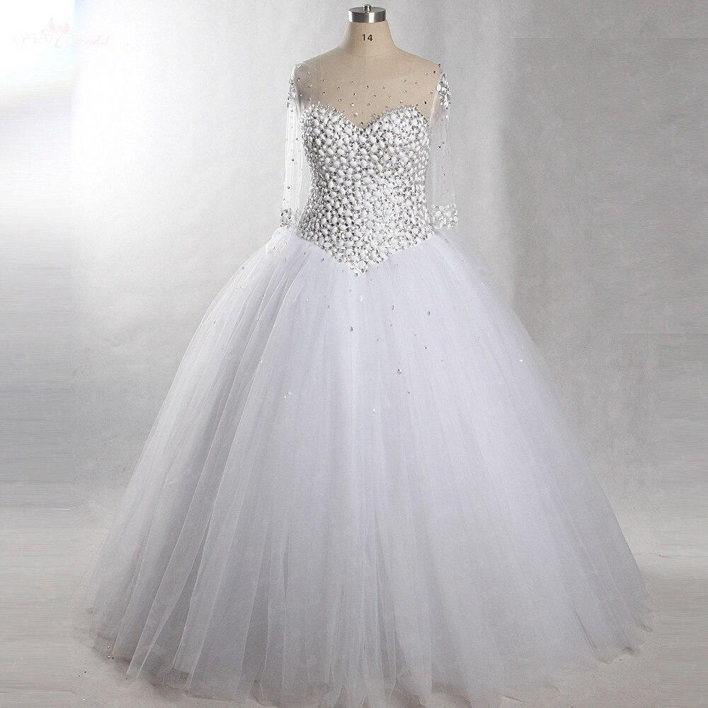 RSW432 Luxury Rhinestone Wedding Dresses Bling Bling