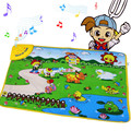 Play Mats  Cute Kids Toy Musical Farm Carpet Mat for baby 69*48CM Carpets Early Educational Toy Outdoor Home Play Mat