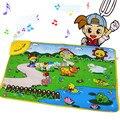 Tapetes de jogo Bonito Crianças Brinquedo Musical Farm Tapete Mat para o bebê 69*48 CM Tapetes Cedo Educacional Brinquedo Ao Ar Livre Home Esteira do Jogo