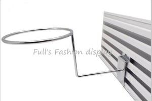 Image 1 - Free shipping hot sale Metal hanging hat rack groove board cap bracket  wig / ball / hat display stand rack 20pcs