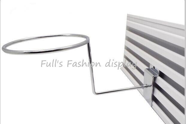Free shipping hot sale Metal hanging hat rack groove board cap bracket  wig / ball / hat display stand rack 20pcs