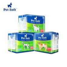 Pet мягкие одноразовые подгузники для собак 2018 новый супер абсорбирующие подгузники для собак и кошек Собака Мужской палантин санитарно брюки
