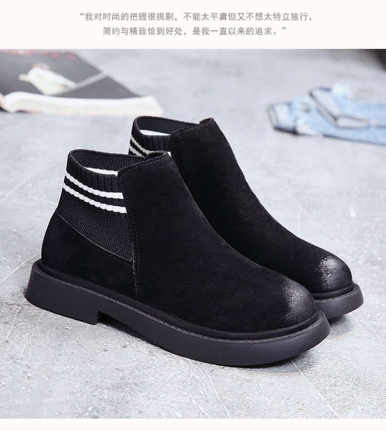 The new autumn 2018 Martin boots flat short tube with restoring ancient ways round head women's boots 55