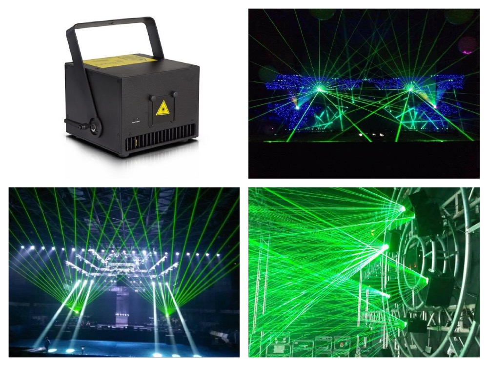 Flightcase+ Green 520nm/ 3W Laser Light 3000mW animation Stage event dj club lighting show concert party ILDA 20kpps 30kpps DMX