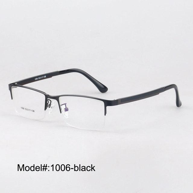 3e3d4385a49f MX1006 famous desing fashion half rim metal optical frames with ultem temple  myopia eyeglasses eyewear prescription