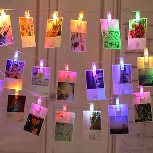 String-Lights Garland-Card Photo-Clip Party Home-Decoration Wedding-Lamp Christmas 3M