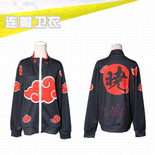Japan Anime Naruto Costumes Akatsuki Sweatshirts Cosplay Anime game Akatsuki  3D printing jacket long-sleeved