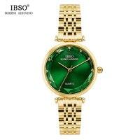 IBSO Luxuoso Relógio De Quartzo Das Mulheres de Aço Inoxidável Estilo de Vidro do Corte do Diamante Mulheres Relógios 2018 Senhoras Da Forma do Relógio Montre Femme