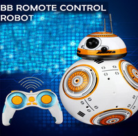 BB 8 Ball Star Wars RC Action Figure BB 8 Droid Robot 2.4 G Remote Control Intelligent Robot BB 8 Model Kid Toy Gift FSWB